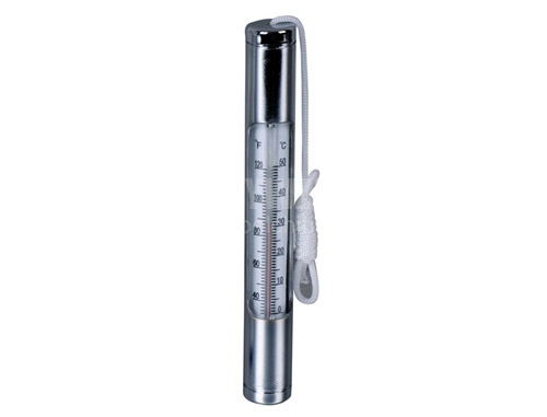 Thermometer 2-plated with Brass body