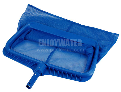 Heavy duty plastic leaf rake with long wear screen mesh